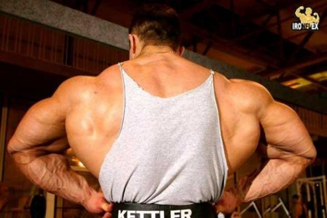 Russian Bodybuilder Alexander Federov (Backside) .